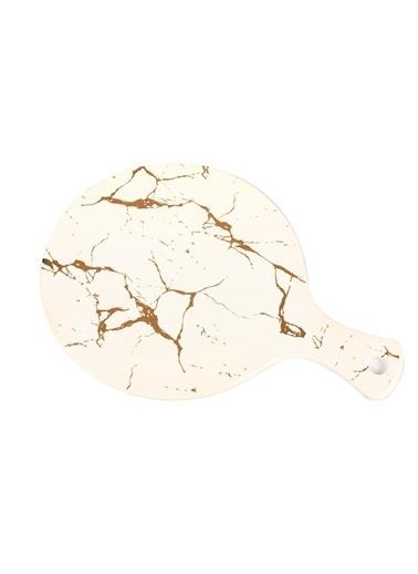 Mikasa Moor Beyaz Yuvarlak Porselen Sunum Tabak  26x36cm Beyaz